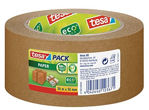 tesa Packband Papier, braun, 50m x 50mm