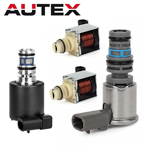 AUTEX 4T65E Transmission Master Shift Solenoid TCC EPC Kit Fits For 2003-2007 Chevy Monte Carlo/Chevy Impala/Chevrolet Venture/Buick LaCrosse/Buick Lucerne/Pontiac G6/2003 2004 Buick (Transmission Master)