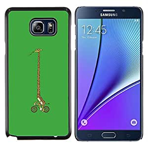 LECELL--Funda protectora / Cubierta / Piel For Samsung Galaxy Note 5 5th N9200 -- Girrafe bicicletas --