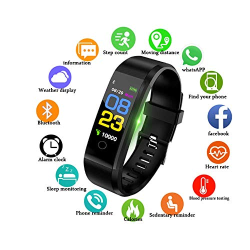NBSXR Smart Watch Fitness Tracker, IP68 Waterproof, with Heart Rate Monitor, Sleep Monitor, Compatible with iPhone and…