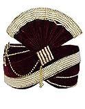 INMONARCH Mens Attrative Groom Turban Pagari Safa Groom Hats TU1090 22H-Inch Maroon