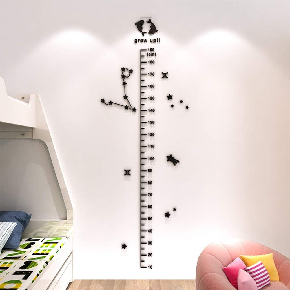 Constellation Acrylique 3D Autocollant Mural Hauteur de Mesure b/éb/é Chambre denfant Autocollant D/écoration,E HBIAO Toise Stickers Muraux La Chambre