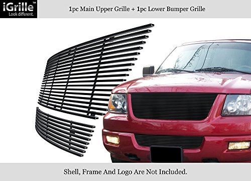 APS Fits 2003-2006 Ford Expedition Stainless Steel Black Billet Grille Combo #F67847J 05 Ford Expedition Billet