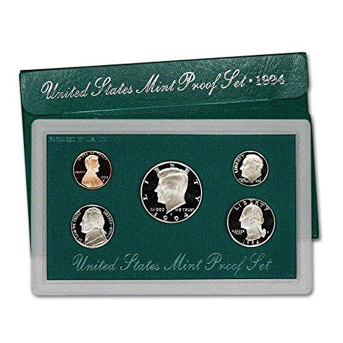 Dollar Mint Set - 1994 S US Mint 5-Piece Proof Set Orig Box/COA DCAM