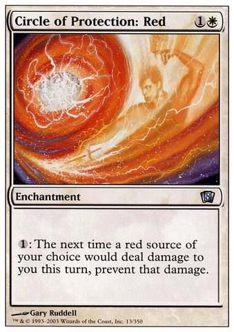 Magic: the Gathering - Circle of Protection: Red - Eighth Edition