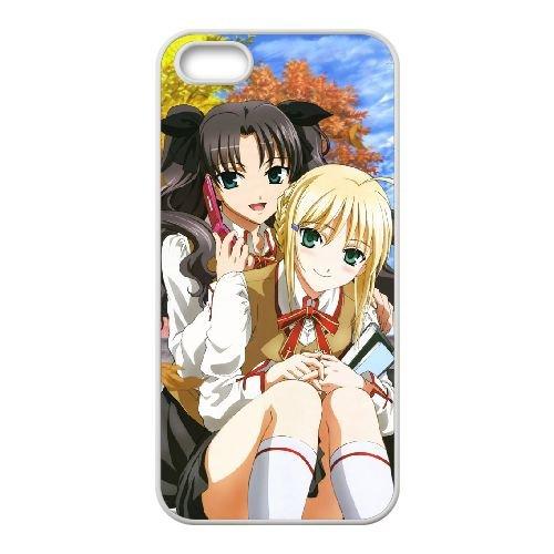Fate Stay Night 015 coque iPhone 4 4S Housse Blanc téléphone portable couverture de cas coque EOKXLLNCD12858
