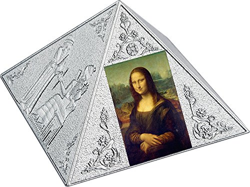 Silver Coin Shaped (2016 NU Temple Of Art PowerCoin Pyramid Shaped 3 Oz Silver Coin 15$ Niue 2016 Proof)