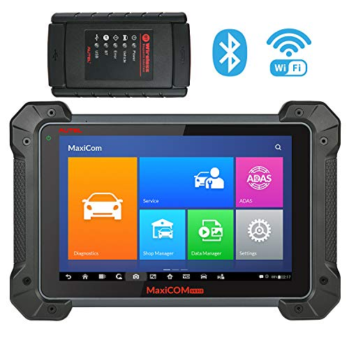 (Autel MaxiCOM MK908 Ultimate Automotive Diagnostic Scan Tool with ADAS, ECU Coding, Full Bi-Directional Control, ABS Brake Bleed, OE-Level All Systems Diagnosis, Upgraded Ver. of MS908 MS906 MK808)