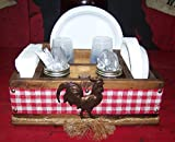 Country Rooster Utensil Organizer Holder, Utensil Caddy, Buffet, Kitchen Utensil Storage Holder