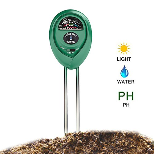 Professional 3 in 1 Soil Tester Kit For Moisture, Light & PH Acidity Easy To Read Indicators. Used in Gardens, Farms, Lawns, Indoor & Outdoor Plant Care. Bonus - Protective Gardening Gloves.