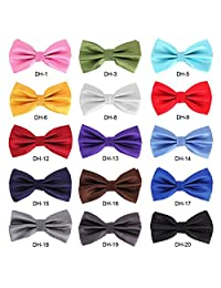 15pcs Adjustable Mens Tuxedo Bow Tie Collar Set Lot for Mens Womens and Large Pet Dog