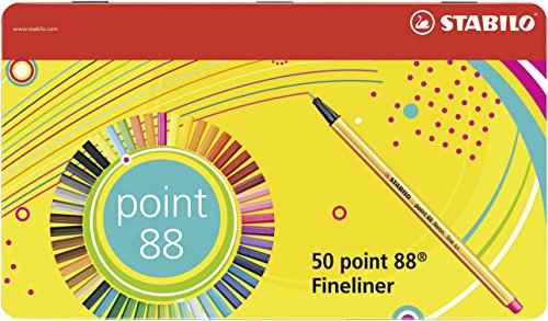 STABILO point 88 fineliner - metal tin of 50 colors - 8850-6 by STABILO (Image #7)