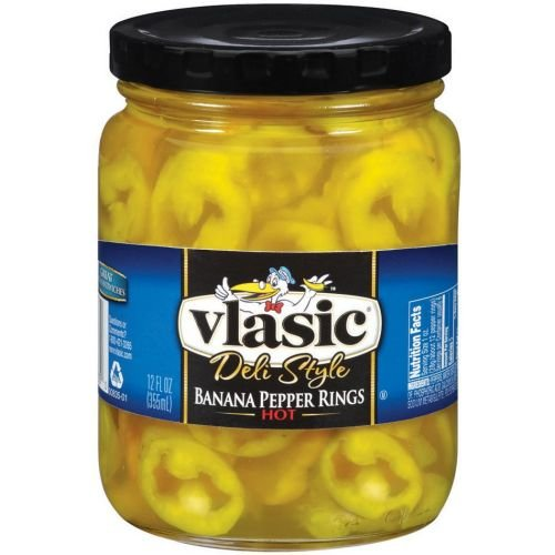 Vlasic Deli Style Banana Hot Pepper Rings, 12 Fluid Ounce -- 12 per case. (Rings Pepper)