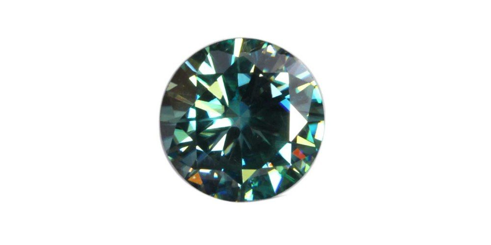 GemsIndustry 10.00mm = 3.23 (DEW) 1pcs Moissanite Loose Stone Blue Color Round Excellent Cut VVSI Grade