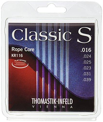 (Thomastik-Infeld KR116 Classical Guitar Strings: Classic S Series Rope Core Set W/Nylon Tape Trebles E, B, G, D, A, E)