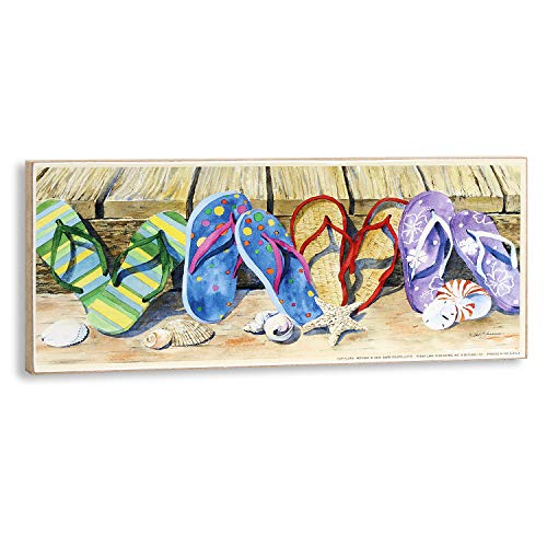 Colorful Flip Flops Wall Plaque for Home, Dorm, Beach House ()