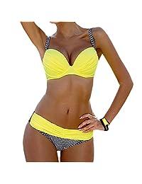 Womens Colors Padded Tops Swimwear Beach Sport Vacation Party Bikin Swimsuit