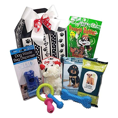 New Puppy Dog Gift Basket - Puppy Care Package - Small Medium Dogs - Girl or Boy Dogs