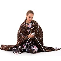 "Electric Snuggle Heated Throw Blanket with 3 Temperature Settings,Fast Heating Tech and Auto Shut Off,Ultra Soft Flannel,Moose Pattern, 50""x 60"