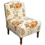 Custom Upholstered Camel Back Chair