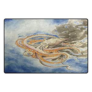"""PersonalizedShop Stylish Cute Octopus Art 23.6""""x15.7"""" Non-slip Top Quality Rug Doormat"""