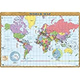 Amazon durable world map desk pad 15 34 x 20 34 inches world map desk mat blotter desk pad 14 x 20 laptop mat gumiabroncs Images