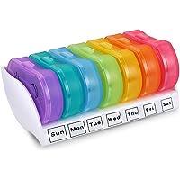 Pastillero Semanal 2 Tomas Organizador de Medicamentos para Pastillas Portátil 7 Dias Mini Pill Box Compartimentos Guardar Caja de Píldoras Diario de Viaje Dispensadores y Recordatorios Vitaminas Case