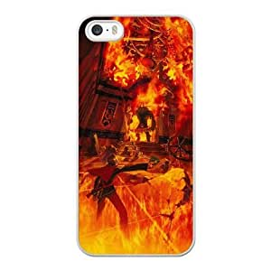Wunatin Hard Case ,iPhone 5/5S/SE Cell Phone Case White Final Fantasy Type 0 Deuce and Seven [with Free Tempered Glass Screen Protector] BA-9904490
