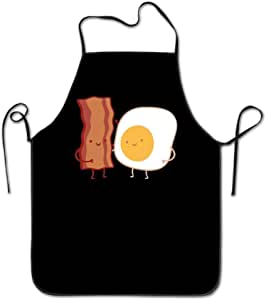 PERSONALISED FUN FRY UP BREAKFAST PRINT SOFT POLYESTER APRON ADULT KITCHEN CRAFT