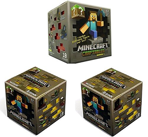 - Official Minecraft Craftables Series 1 Figure 3-Pack Set Blind Pack