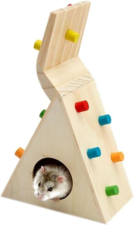 Chakil - Escalera de Juguete Colorido para hámster, Gerbil, Rata, Rata, Chinchillas, cobayas, Animales pequeños, hámster, Juguetes para Masticar: Amazon.es: Productos para mascotas
