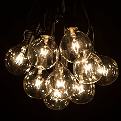100 Foot Globe Patio String Lights - Set of 100 G50 Clear Bulbs