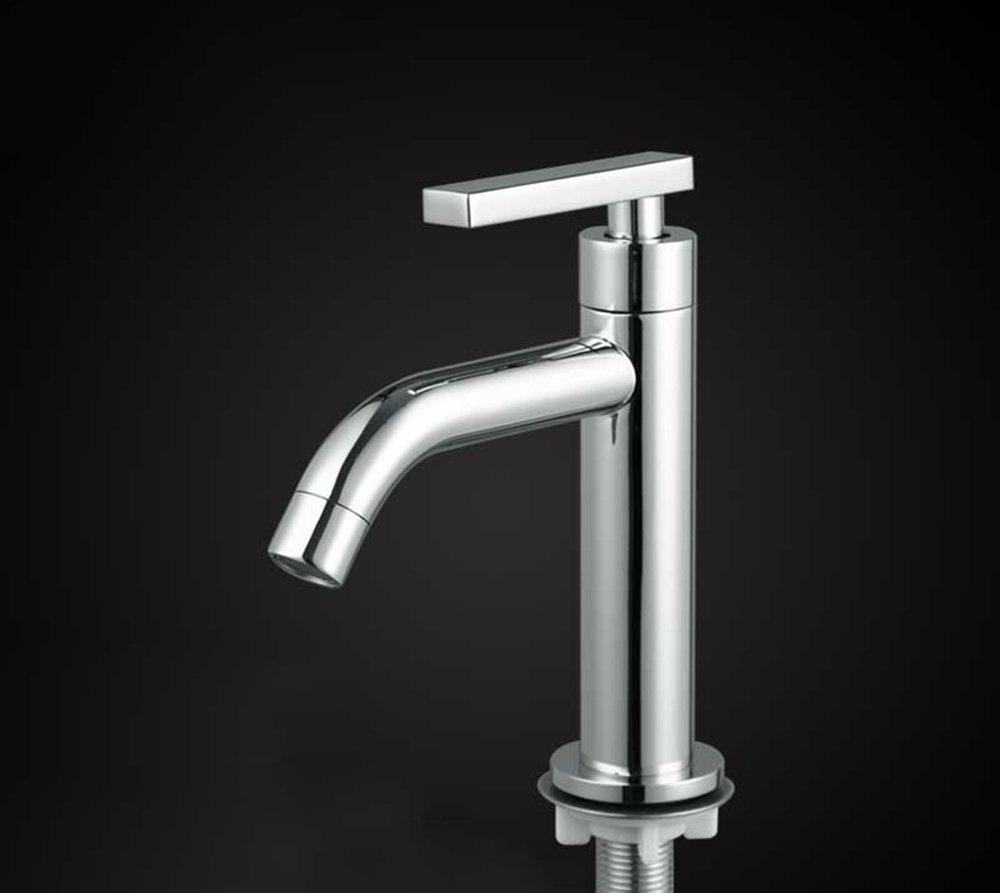 Single cold wash basin faucet copper bathroom wash basin single handle single hole quick faucet