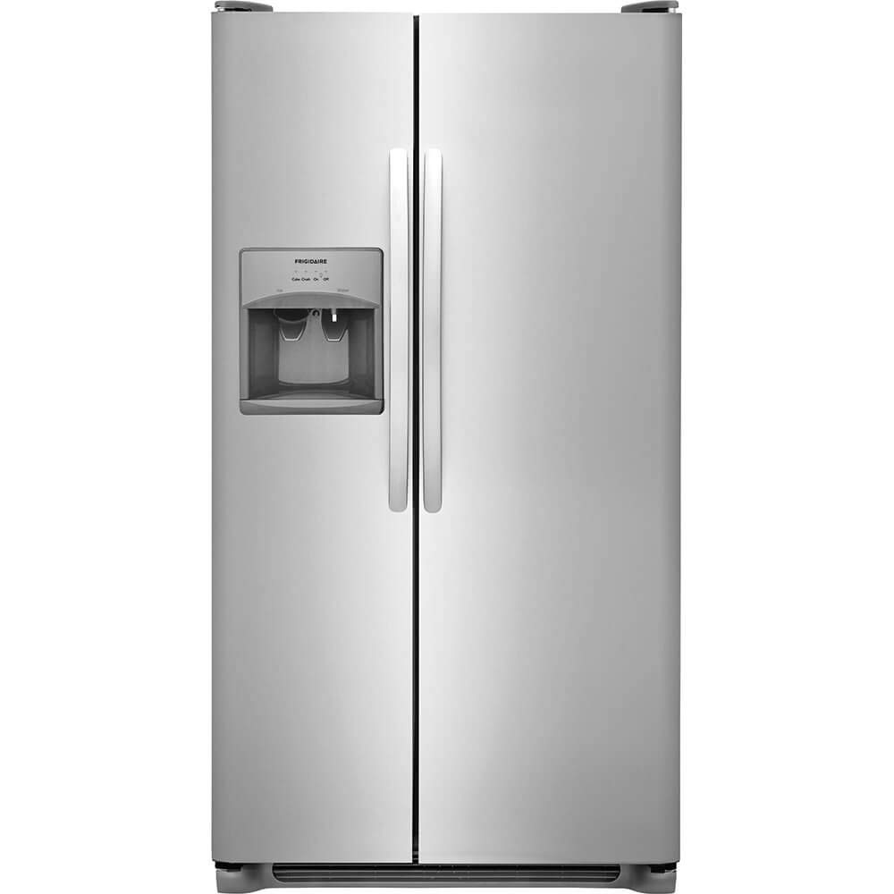 Frigidaire FFSS2615TS 36 Inch Side by Side Refrigerator with 25.5 cu. ft. Capacity, External Water Dispenser, Ice Maker, in Stainless Steel (Certified Refurbished)