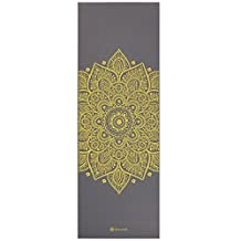 Gaiam Premium Print Yoga Mat, 5mm, Citron Sundial