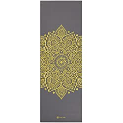 Gaiam Premium Print Yoga Mat, Citron Sundial, 5mm