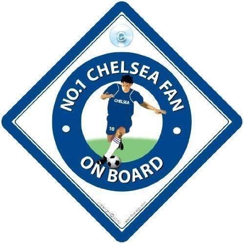 Diseño con texto en inglés No. 1 Chelsea ventilador coche, fútbol ...
