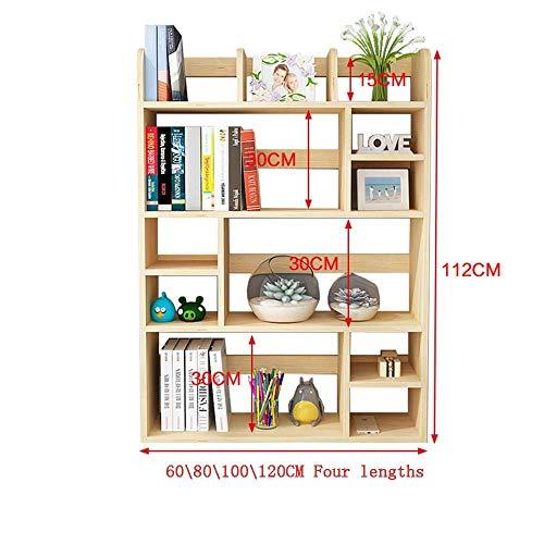 Bzj Shelves Shelving 4-Tier Solid Wood Student Desk Bookshelf Simple Children's Desktop Small Bookshelf Rack Office Desk Storage Bay Window Racks,10021.580cm