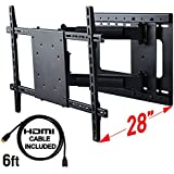 Full Motion TV Wall Mount with Included HDMI Cable, Fits 37 to 70 Inch TV, VESA compatible to 600x400