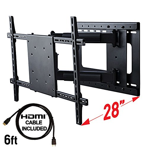 Full Motion TV Wall Mount With Included HDMI Cable, Fits 37