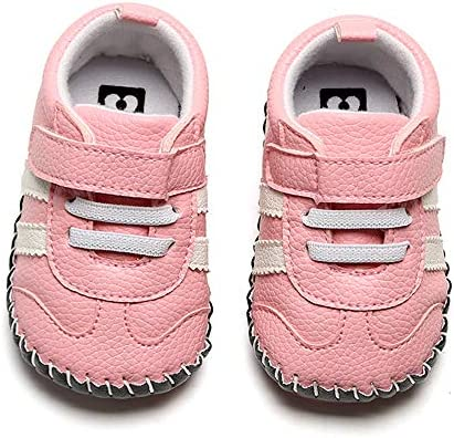 51iAeYYHQcL. AC - SOFMUO Baby Girls Boys Pu Leather Sneakers Anti-Slip Rubber Sole Cartoon Moccasins Handmade Newborn Slippers Hard Bottom Toddler First Walkers Infant Crib Shoes