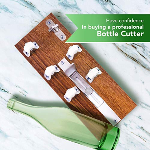 Glass Cutter - Glass Bottle Cutter - DIY Crafts for Glass Bottles - Extra Cutting Wheel Included! by Soft Touch (Image #4)