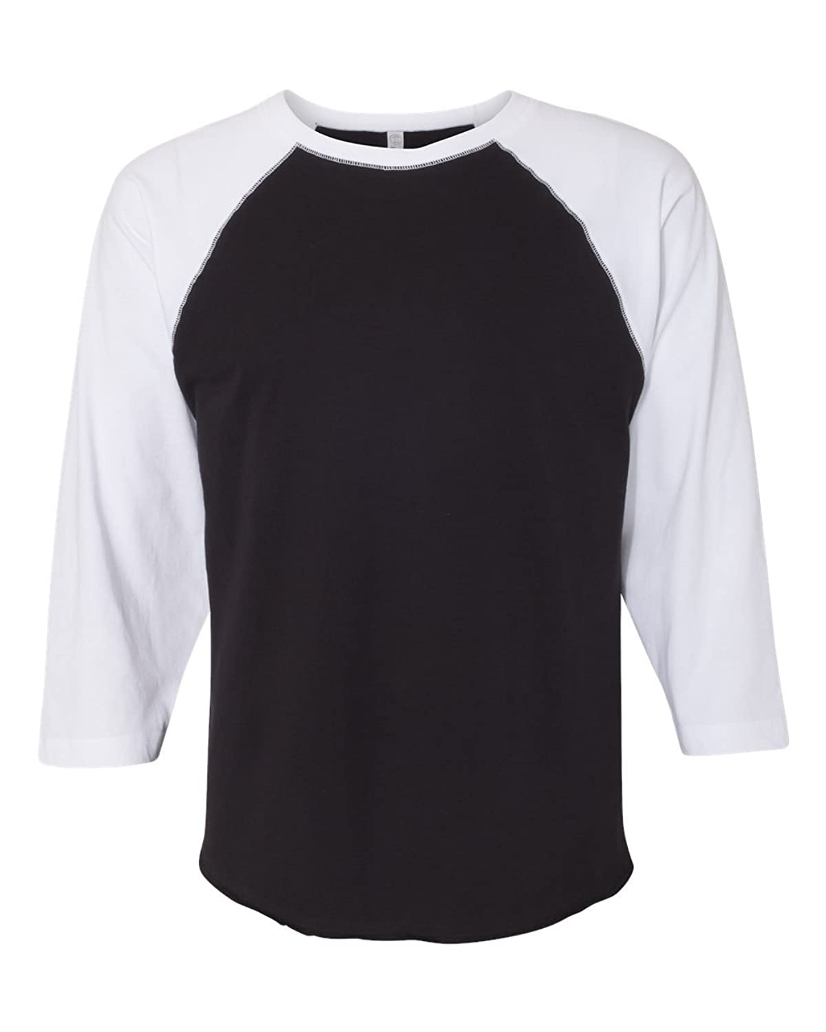 Pro tag 100 cotton 3 4 sleeve raglan baseball shirt in white black - Amazon Com Lat Apparel Adult Cotton Polyester Baseball Jersey Tee 3 4 Sleeve T Shirt Clothing