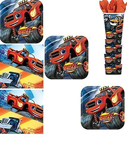 BirthdayExpress Blaze and The Monster Machines Party Pack for 16