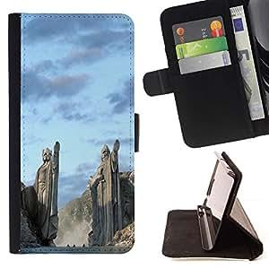Momo Phone Case / Flip Funda de Cuero Case Cover - Arquitectura antigua Nord vikingos Dioses Fiordos - HTC One M8