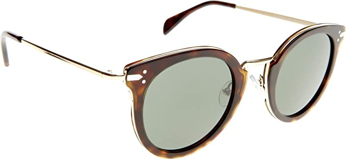 3e64f85d1f4 Image Unavailable. Image not available for. Color  Celine Women s 41373 Dark  Tortoise   Gold ...