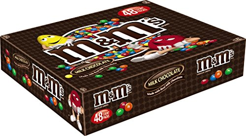 M&MS Milk Chocolate Candy Singles Size 1.69-Ounce Pouch 48-Count Box