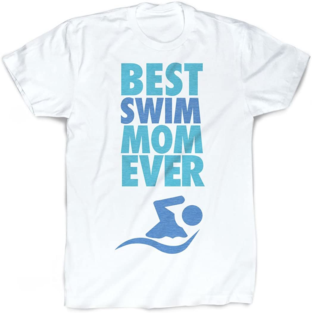 Vintage Faded Swimming T-Shirt by ChalkTalkSPORTS Best Mom Ever T-Shirt