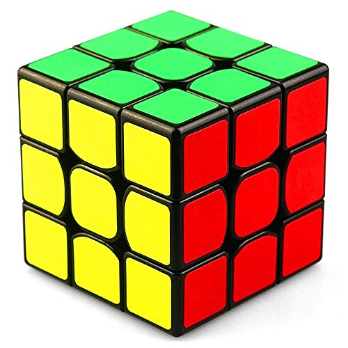 Ablave 3x3x3 Sticker Speed Cube Smooth Rubik's Cube Puzzle, Turns Quicker and More Precisely Than Original