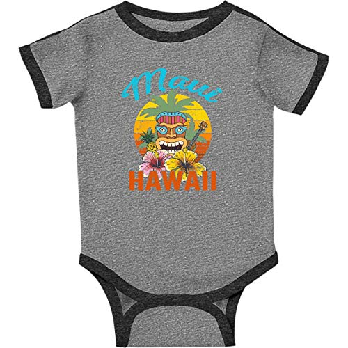 - inktastic - Maui Hawaii Infant Creeper 6 Months Ringer Heather and Smoke 36bc5